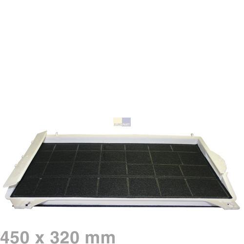 aktivkohlefilter 450x320mm f r dunstabzugshaube 00460736. Black Bedroom Furniture Sets. Home Design Ideas