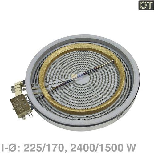 strahlheizk rper 225 170mm 2400 1500w 230v f r herd 10007571. Black Bedroom Furniture Sets. Home Design Ideas