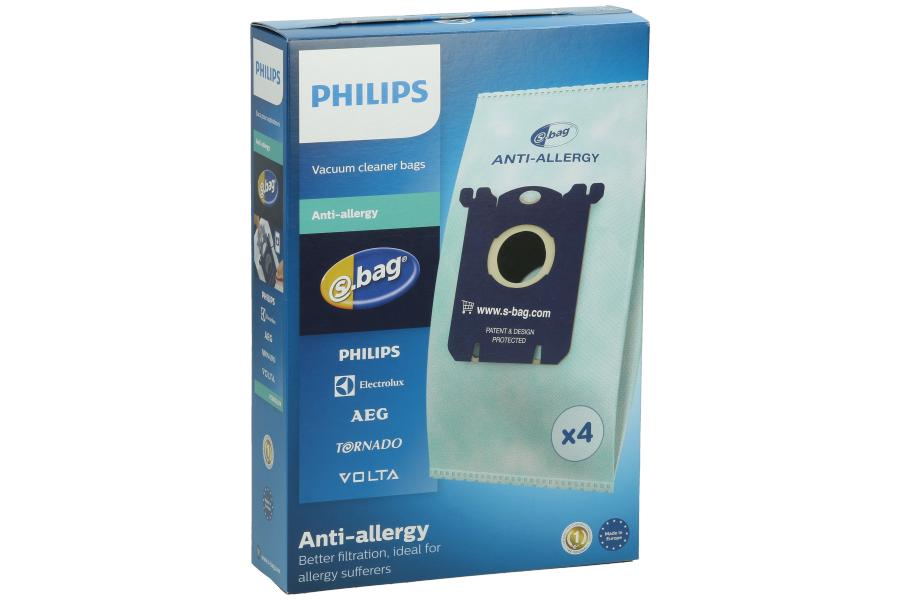 philips s bag anti allergy staubsaugerbeutel fc8022 04. Black Bedroom Furniture Sets. Home Design Ideas