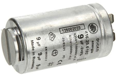 Kondensator 9,00µF mit Steckfahnen für Trockner 1250020227