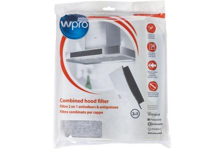 WPRO Universeller 2-in-1 Fett- und Kohlenstofffilter für Dunstabzugshauben 480181700646