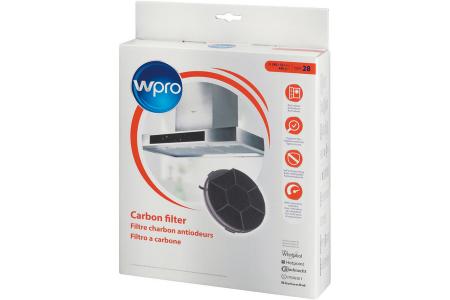 WPRO Kohlefilter Ø240 x 32 mm (rund, Aktivkohlefilter) für Dunstabzugshauben 484000008576, CHF28