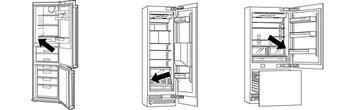 Skizze eines Kühlschranks. Einzeichnung Typenschild.