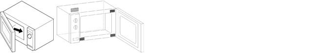 Skizze einer Mikrowelle. Einzeichnung Typenschild.